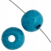 Ceramic Bead Round 10.3x12.7mm Turquoise